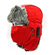 buy Vrlinking Soft Winter Thicken Hat Wireless Bluetooth Hat Cap Hands-Free Warm Hat With Speakerphone Stereo Headphone Headset Speaker Mic For Fitness Outdoor Sports Skiing Skating Walking (Red)