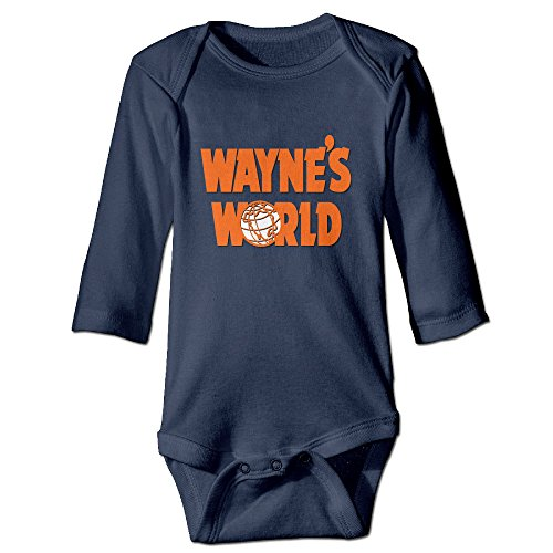 DETED Wayne's World Cute Baby Girls Boys Romper Climb Clothes Size6 M Navy
