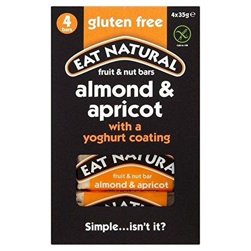 Manger De Gluten Naturel Amandes D'Abricots Gratuits Et Bars De Yaourt 4 X 35G
