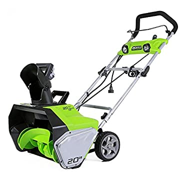 Greenworks 13-Amp 20 Corded Snow Thrower With Dual LED Lights | 2600202