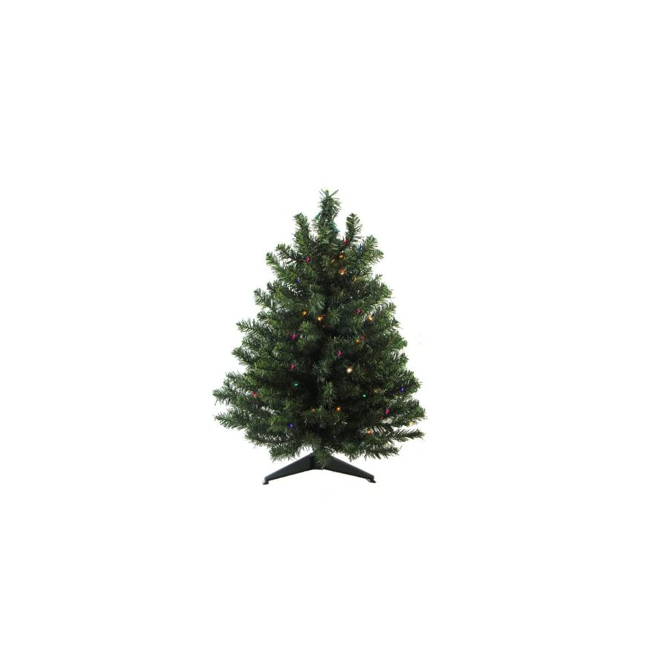 3 Battery Operated Pre Lit LED Pine Artificial Christmas Tree   Multi Lights