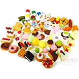 20 of Assorted SWEET DESERT FOOD CAKE Japanese Puzzle Eraser IWAKO (20 will be randomly selected from image shown) - Only at Tokyo Japanese Outlet