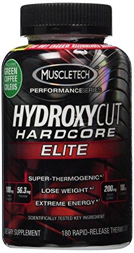 Hydroxycut Hardcore Elite - grain de café vert Svetol extraire formule, 180 Caps Thermo Rapid-libération