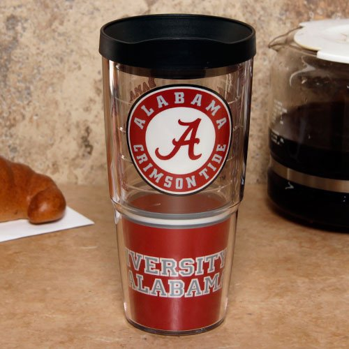 Ncaa Tervis Tumbler Alabama Crimson Tide 24Oz. Wrap Travel Tumbler With Lid