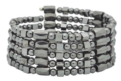 Unisex Magnetic Genuine Hematite Bead Necklace,
