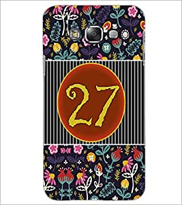 PrintDhaba Numerology Number 27 D-3116 Back Case Cover for SAMSUNG GALAXY GRAND 3 (Multi-Coloured)