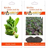 Alkarty Spinach ( Palak ) And Tulsi Seeds Pack Of 20