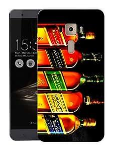 """Liquor Love Malt WhiskeyPrinted Designer Mobile Back Cover For """"Asus Zenfone 3 Ze552kl"""" (3D, Matte, Premium Quality Snap On Case)"""
