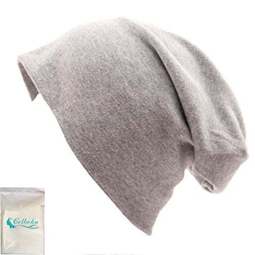 Gellwhu Unisex Baggy Thin Hip-hop Soft Stretch Knit Slouchy Beanie Hat Skull Cap (Light Gray) (Thin Skull Cap compare prices)