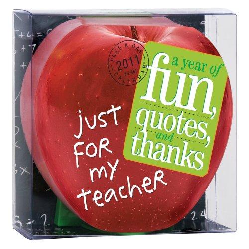 Just for My Teacher Diecut Calendar 2011