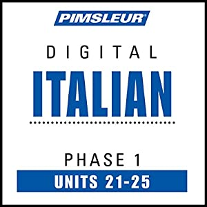 Italian Phase 1, Unit 21-25 Audiobook
