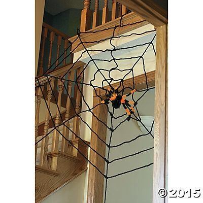 EXTRA LARGE 6 FOOT HALLOWEEN SPIDER WEB by McToy