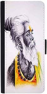 Snoogg Sadhu Yellow 2783 Designer Protective Flip Case Cover For Samsung Gala...