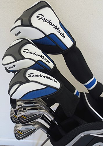 Mens Taylormade Golf Set Driver, Fairway Wood, Hybrid, Irons, Putter, Bag Taylor Made Clubs Rh Regular Flex