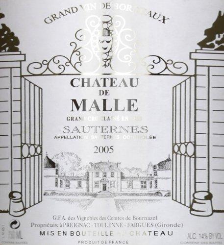 2005 Château De Malle, Sauternes - 375 Ml