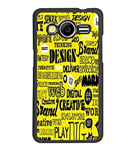 PrintDhaba Typography D-5504 Back Case Cover for SAMSUNG GALAXY CORE 2 G355H (Multi-Coloured)
