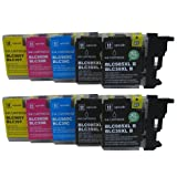 10 CiberDirect High Capacity Compatible Ink Cartridges for use with Brother DCP-J315W Printers.