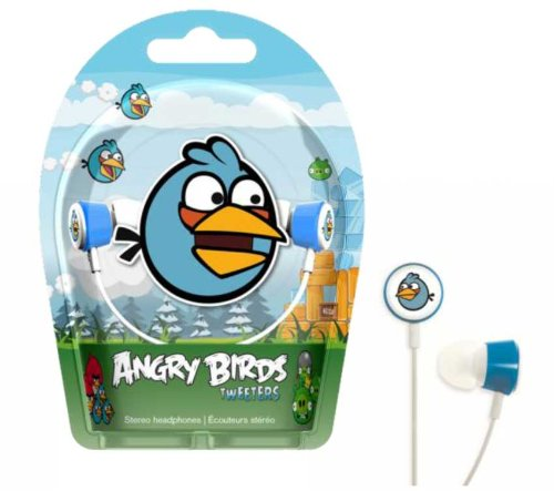 Gear4 HAB005G Angry Birds In-Ear Stereo Headphones - Blue Bird Tweeters