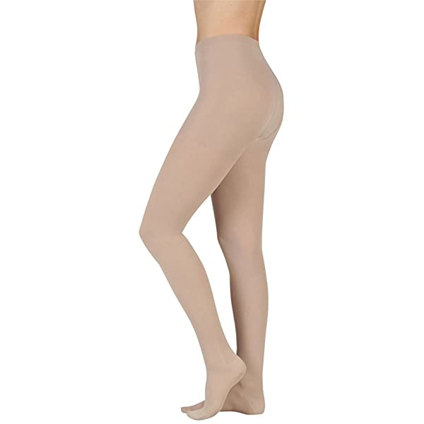 Juzo Soft Compression Pantyhose 30-40mmhg Open Toe, III, Beige (Color: Beige, Tamaño: III)