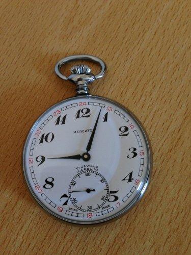 Antique World Map Pocket Watch