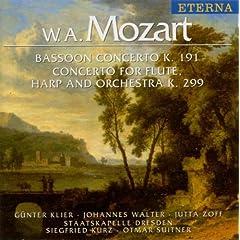Wolfgang Amadeus Mozart.: Bassoon Concerto / Concerto for Flute and Harp (Klier, Walter, Zoff, Dresden Staatskapelle, Kurz, Suitner)