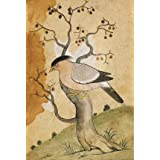 Black Headed Myna on a tree-trunk (V&A Custom Print)