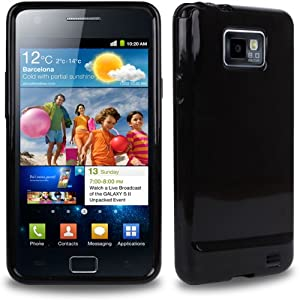 CNL HIGH GLOSS BLACK HYDRO GEL CASE WITH TIGERBOX SCREEN PROTECTOR FOR SAMSUNG GALAXY