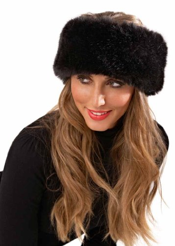 Luxury Faux Fur Headband Ladies Girls Womens