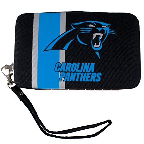nfl-carolina-panthers-shell-wristlet-35-x-05-x-6-inch-black-by-littlearth