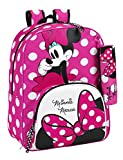 Minnie Mouse - Mochila adaptable, 33 x 42 cm (Safta 611513414)
