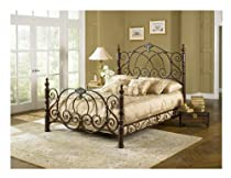 Hot Sale Leggett & Platt Fashion Bed Group Strathmore Vintage Spice Bed, King, Brown