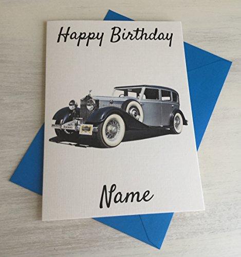 Vintage Classic Rolls Royce personalizzato Premium Avorio compleanno scheda