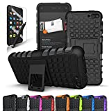 Fire Phone Case, CINEYO(TM) heavy Duty Rugged Dual Layer Case with kickstand (Amazon Fire Phone Case Black) (Black) (Black)