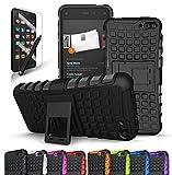 Fire Phone Case, CINEYO(TM) heavy Duty Rugged Dual Layer Case with kickstand (Amazon Fire Phone Case Black) (Black) (Black)
