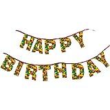 Blocks Bash Happy Birthday Banner