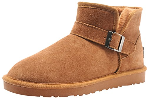 Rock Me Men'S Fluff Warm Ankle Snow Boot(Chestnut,6.5)