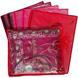 Indi Bargain Non Woven Single Saree Covers - Set of 6