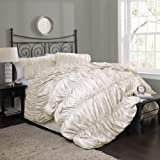 Lush Decor Venetian 4-Piece Comforter Set, King, Ivory