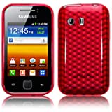 Samsung Galaxy Y S5360 TPU Gel Skin / Case / Cover - Red PART OF THE QUBITS ACCESSORIES RANGEby TERRAPIN