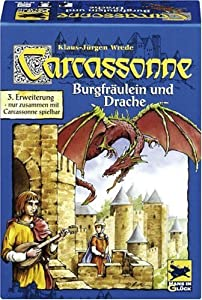 Schmidt Spiele 48145 - Carcassonne, Burgfräulein und Drache, 3. Erweiterung