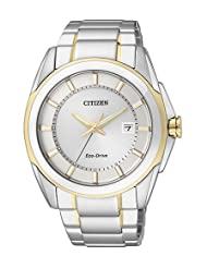 Citizen Eco-Drive Analog White Dial Men's Watch BM6725-56A
