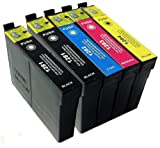 T1285 + 1 Extra Black Compatible Ink Cartridges to replace Epson SX420W - ALSO COMPATIBLE WITH Printers Epson Stylus Office BX305F, BX305FW Plus, Epson Stylus S22, SX125, SX130, SX235W, SX420W, SX425W, SX435W, SX445W - Latest Version Double Capacity Inks