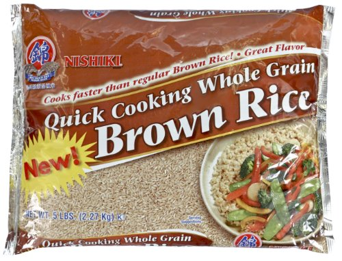 Nishiki Brown Rice Quick Cooking, 5-pounds (Haiga Brown Rice compare prices)