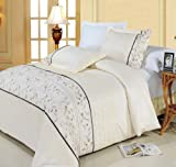51pehb1tejL. SL160  Anna linen Ivory King/ Cal king Duvet cover set