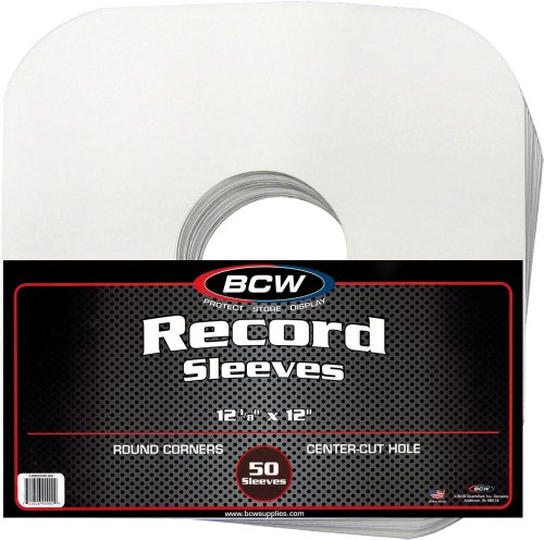 100-BCW-Brand-12-Record-White-Paper-Inner-Sleeves
