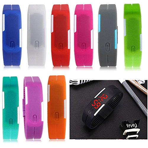 Padgene LED腕時計 シリコン製 LED 腕時計 スポーツ ウォッチ 男女兼用 ヨガに ゴルフに テニスに 登山に シンプル デザイン04PG0044「並行輸入品」
