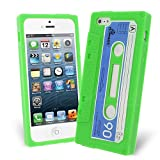 Celicious Lime Retro Cassette Tape Silicone Skin Case for Apple iPhone 5s / iPhone 5 Apple iPhone 5s Case Cover