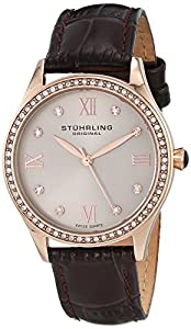 Stuhrling Original Women's 431.05 Vogue Analog Display Swiss Quartz Brown Watch