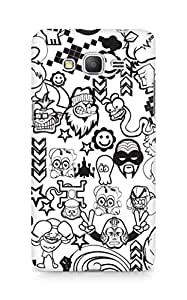 Amez designer printed 3d premium high quality back case cover for Samsung Galaxy Grand Prime (Zed Duo Comics Characters)