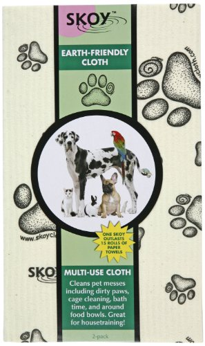 Skoy Cloth Large With Paw Print, 2-Pack
